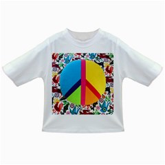 Peace Sign Animals Pattern Infant/toddler T Shirts