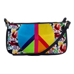 Peace Sign Animals Pattern Shoulder Clutch Bags