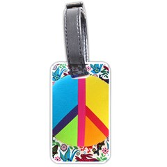 Peace Sign Animals Pattern Luggage Tags (one Side)