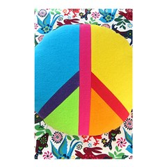 Peace Sign Animals Pattern Shower Curtain 48  x 72  (Small)