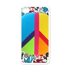 Peace Sign Animals Pattern Apple Iphone 4 Case (white)