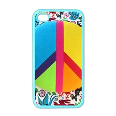 Peace Sign Animals Pattern Apple iPhone 4 Case (Color)