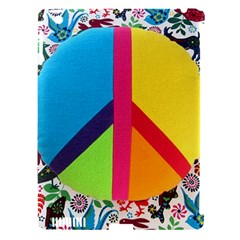 Peace Sign Animals Pattern Apple Ipad 3/4 Hardshell Case (compatible With Smart Cover)