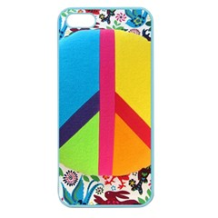 Peace Sign Animals Pattern Apple Seamless Iphone 5 Case (color)