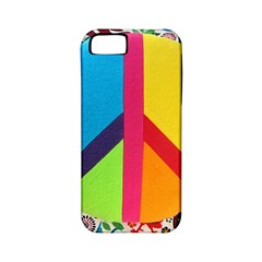 Peace Sign Animals Pattern Apple iPhone 5 Classic Hardshell Case (PC+Silicone)