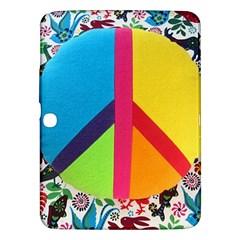 Peace Sign Animals Pattern Samsung Galaxy Tab 3 (10.1 ) P5200 Hardshell Case