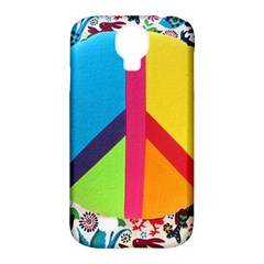 Peace Sign Animals Pattern Samsung Galaxy S4 Classic Hardshell Case (PC+Silicone)