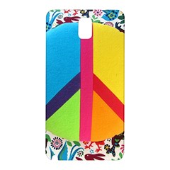 Peace Sign Animals Pattern Samsung Galaxy Note 3 N9005 Hardshell Back Case
