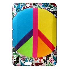 Peace Sign Animals Pattern Kindle Fire Hdx Hardshell Case
