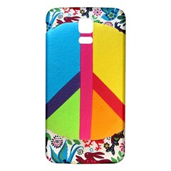 Peace Sign Animals Pattern Samsung Galaxy S5 Back Case (White)