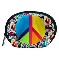 Peace Sign Animals Pattern Accessory Pouches (Medium)