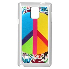 Peace Sign Animals Pattern Samsung Galaxy Note 4 Case (white)
