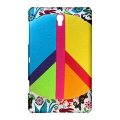 Peace Sign Animals Pattern Samsung Galaxy Tab S (8 4 ) Hardshell Case