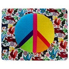Peace Sign Animals Pattern Jigsaw Puzzle Photo Stand (Rectangular)