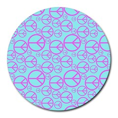 Peace Sign Backgrounds Round Mousepads