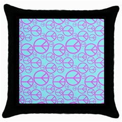 Peace Sign Backgrounds Throw Pillow Case (Black)
