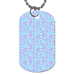 Peace Sign Backgrounds Dog Tag (one Side)