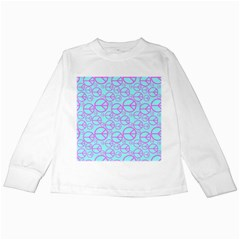 Peace Sign Backgrounds Kids Long Sleeve T-Shirts