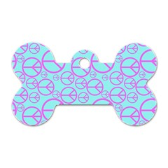 Peace Sign Backgrounds Dog Tag Bone (Two Sides)