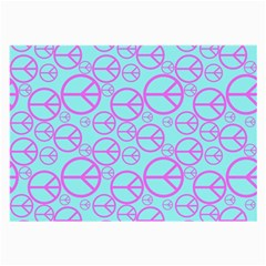 Peace Sign Backgrounds Large Glasses Cloth (2-Side)