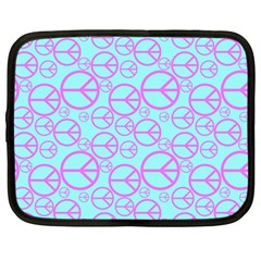 Peace Sign Backgrounds Netbook Case (Large)