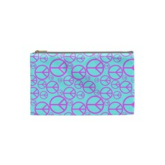 Peace Sign Backgrounds Cosmetic Bag (Small)