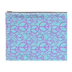 Peace Sign Backgrounds Cosmetic Bag (xl)