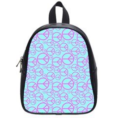 Peace Sign Backgrounds School Bags (Small)