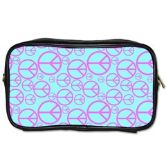 Peace Sign Backgrounds Toiletries Bags 2 Side