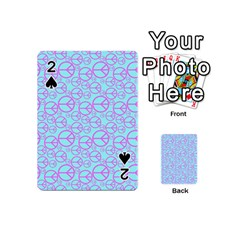 Peace Sign Backgrounds Playing Cards 54 (Mini)