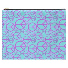 Peace Sign Backgrounds Cosmetic Bag (XXXL)