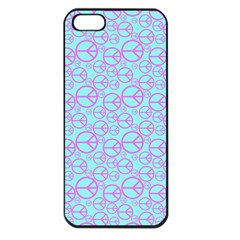 Peace Sign Backgrounds Apple Iphone 5 Seamless Case (black)