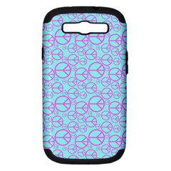 Peace Sign Backgrounds Samsung Galaxy S Iii Hardshell Case (pc+silicone)