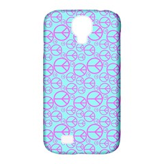 Peace Sign Backgrounds Samsung Galaxy S4 Classic Hardshell Case (pc+silicone)