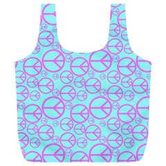 Peace Sign Backgrounds Full Print Recycle Bags (l)