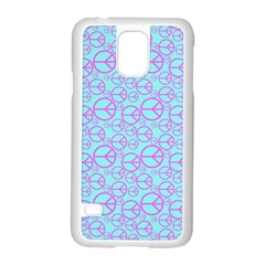 Peace Sign Backgrounds Samsung Galaxy S5 Case (white)