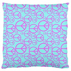 Peace Sign Backgrounds Large Flano Cushion Case (Two Sides)