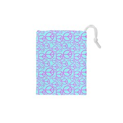 Peace Sign Backgrounds Drawstring Pouches (XS)