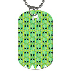 Alien Pattern Dog Tag (Two Sides)