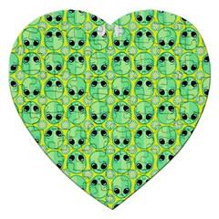 Alien Pattern Jigsaw Puzzle (heart)