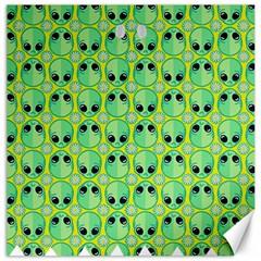 Alien Pattern Canvas 12  x 12