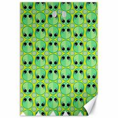 Alien Pattern Canvas 12  x 18