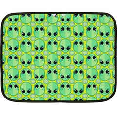 Alien Pattern Double Sided Fleece Blanket (Mini)