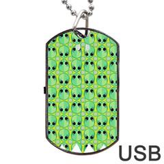 Alien Pattern Dog Tag USB Flash (One Side)
