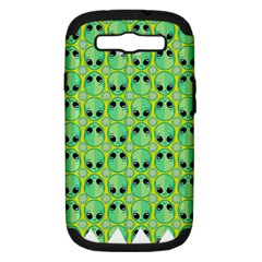 Alien Pattern Samsung Galaxy S III Hardshell Case (PC+Silicone)