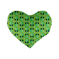 Alien Pattern Standard 16  Premium Heart Shape Cushions