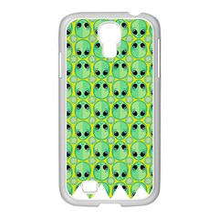 Alien Pattern Samsung Galaxy S4 I9500/ I9505 Case (white)