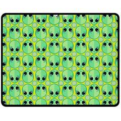 Alien Pattern Double Sided Fleece Blanket (Medium)