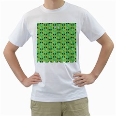Alien Pattern Men s T-Shirt (White)
