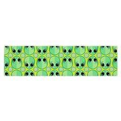 Alien Pattern Satin Scarf (oblong)